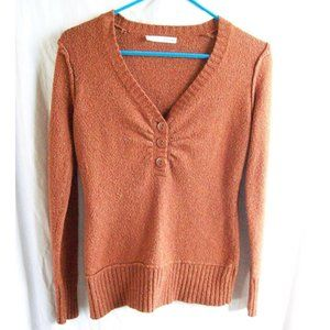 Maurices Burnt Orange V-Neck Sweater - Size M